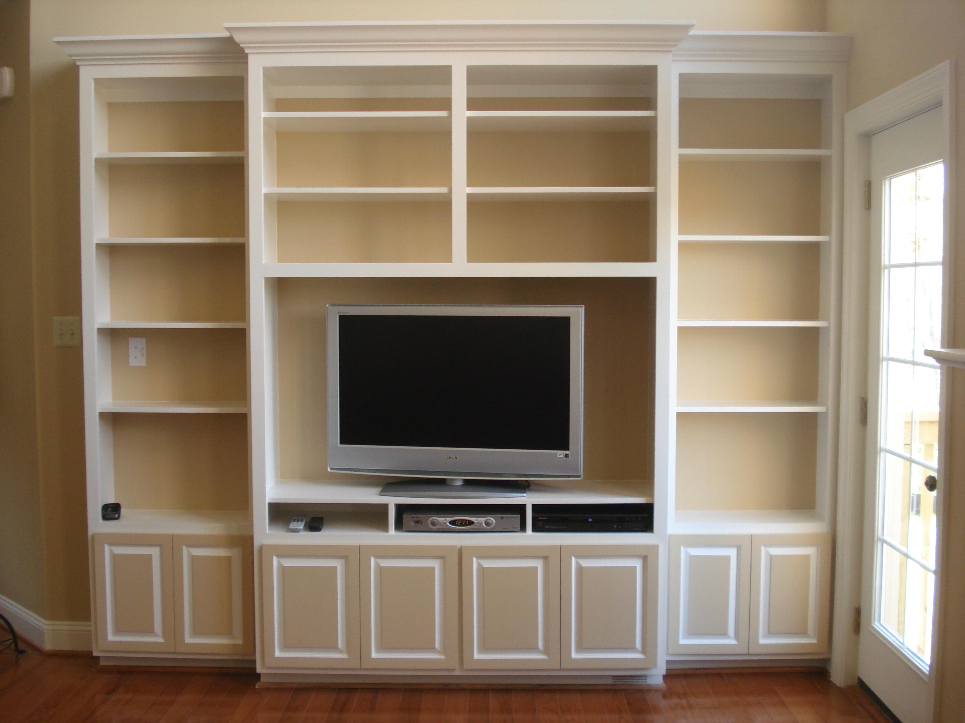 pdf diy bookcase entertainment center plans download