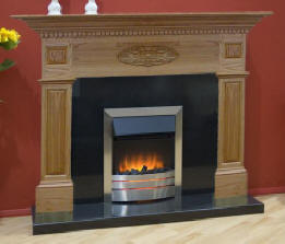 Oak Mantel Fireplace