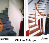 Replace your outdated staircase with a new stylish wood stair built by Stairworks.
